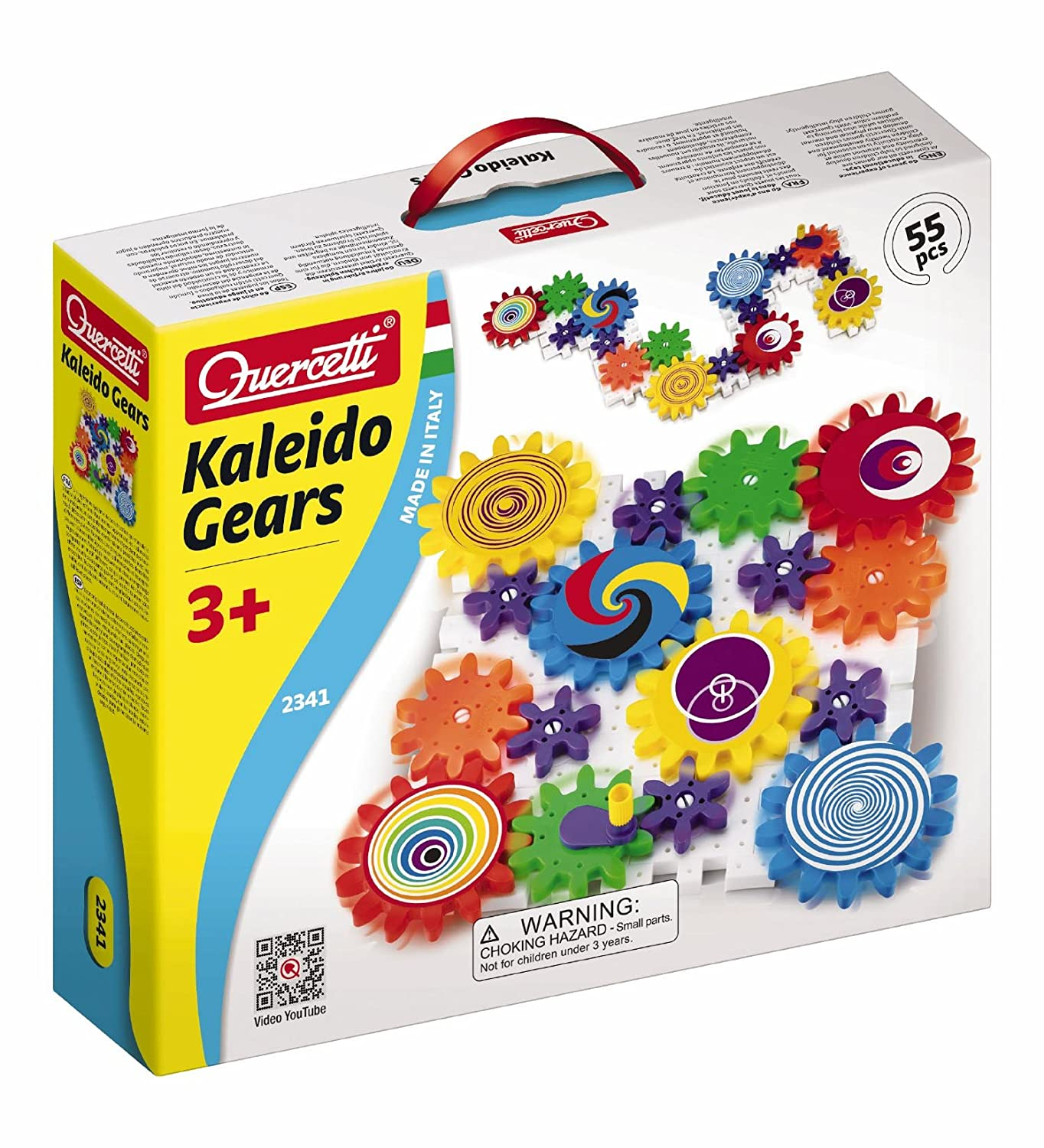 Amazon Quercetti Kaleido Gears 55 Piece Building Set with 3
