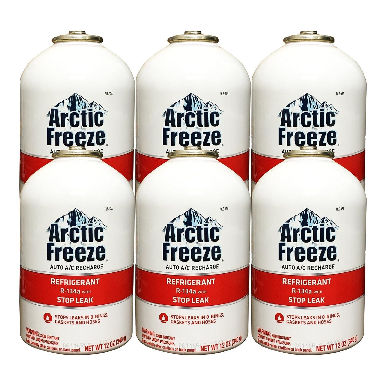 Amazon.com: Arctic Freeze (RLS-134T) Refrigerant R-134a with Stop Leak 12 oz (1 Can): Automotive