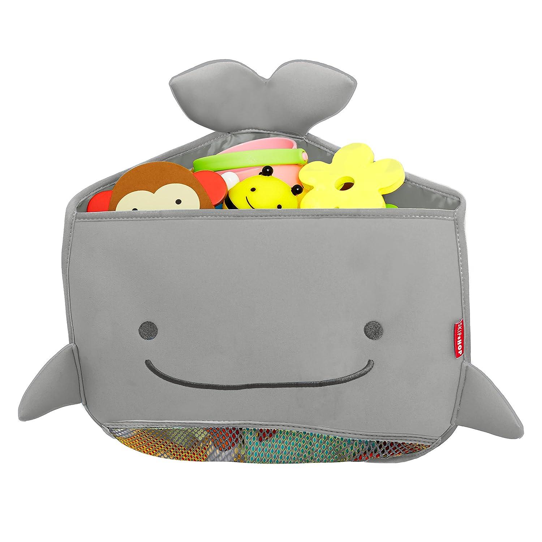 Moby Bath Toy Organizer for Babies and Toddlers, Corner Bath Tub Storage, Grey Skip Hop 235058