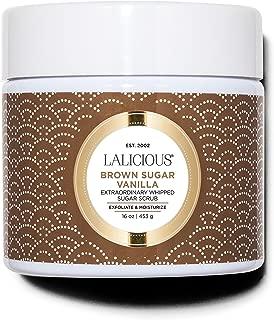 product image for LALICIOUS Brown Sugar Vanilla Extraordinary Whipped Sugar Scrub - Cane Sugar Body Scrub with Coconut Oil & Honey, No Parabens (16 Ounces)