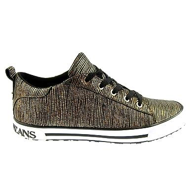 e81ce10feabe Armani Jeans 925907 Damen Women Sneaker Schuhe Shoes Gold Rust Brown (UK 4,5