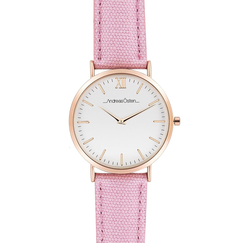 Andreas Osten (Oste) Damen Gold LÜnette Rosa Gurt Armbanduhr A0–129