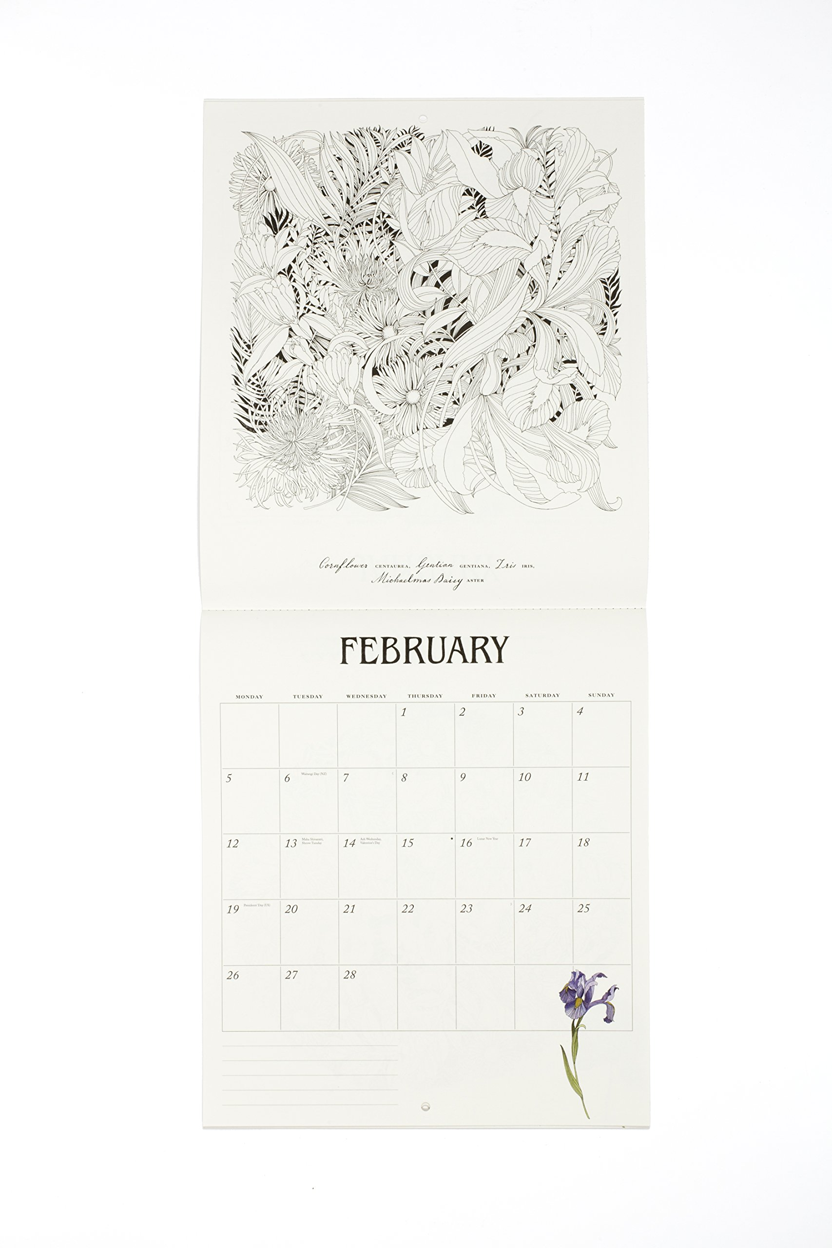 Floribunda 2018 Colouring Calendar by Laurence King Publishing