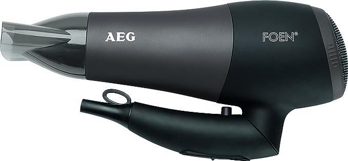 AEG HTD 5649 - Secador de pelo profesional iónico con difusor, 2 niveles de temperatura y velocidad, mango abatible, 2200 W, color negro: AEG: Amazon.es: ...