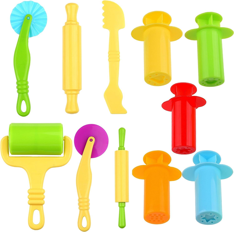 Kare & Kind Set of 11 pcs Smart Dough Tools Kit with Extruder Tools / Dough Tools (Extruder Tools + Dough Tools)