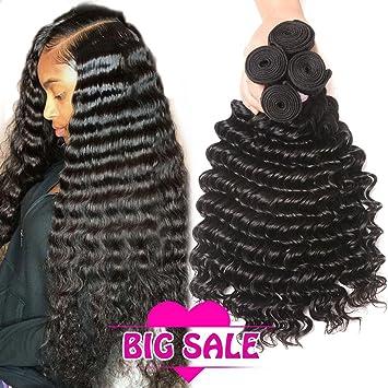 Amazon Brazilian Human Hair Deep Wave 4 Bundles 100