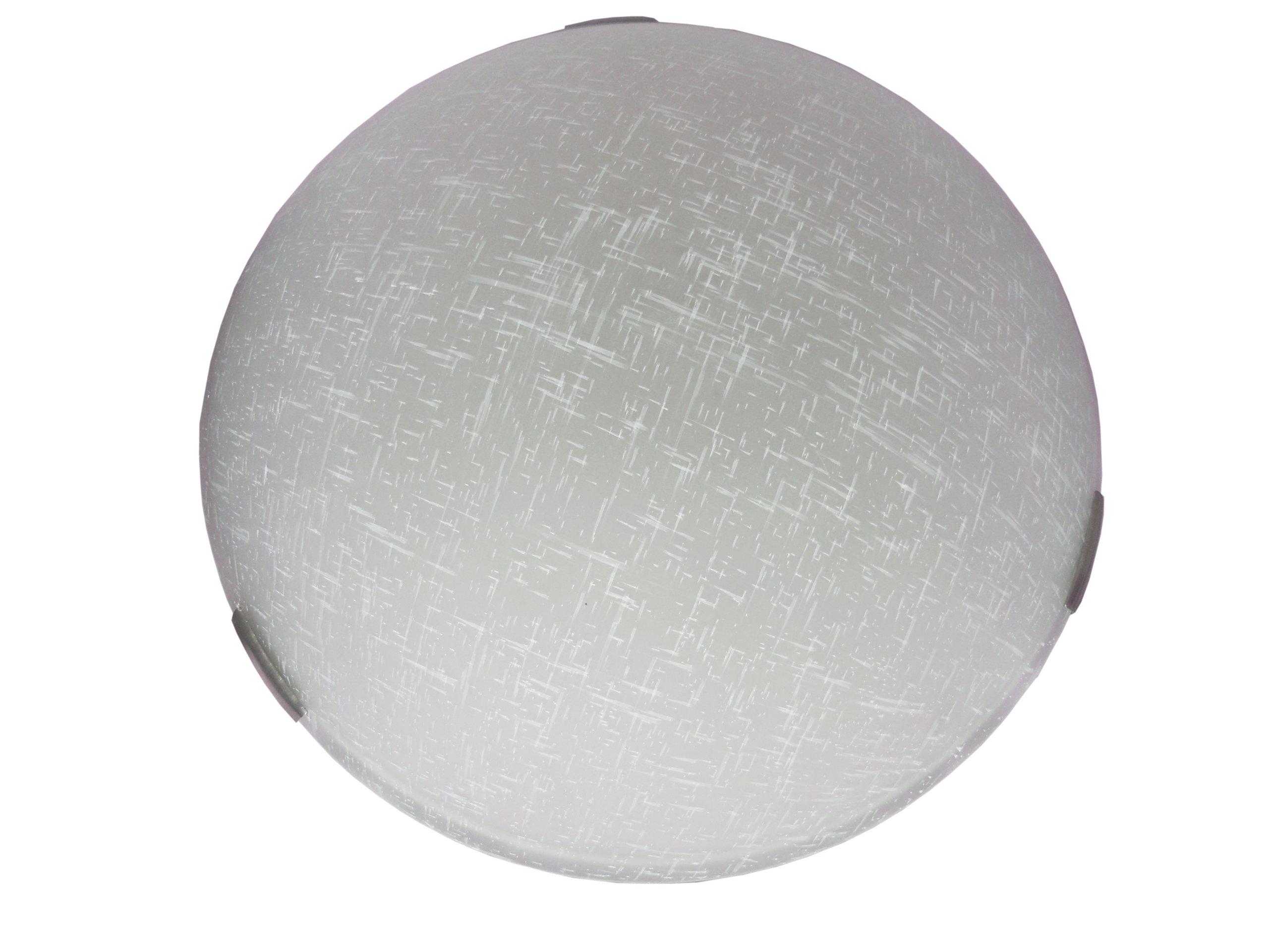 Whitfield ESFM389-16WLNSS Alexander 16-Inch Energy Star Three-Light Flush Mount, Satin Steel with White Linen Glass