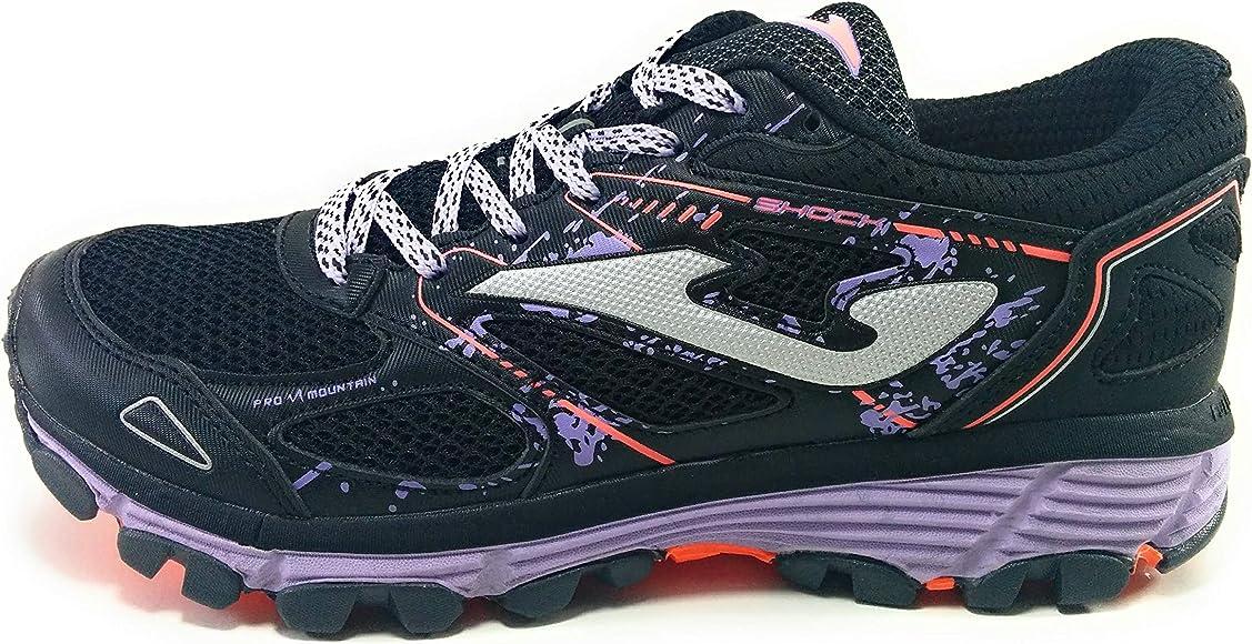 Joma Shock Zapatillas Trail Mujer Negras: Amazon.es: Zapatos y complementos