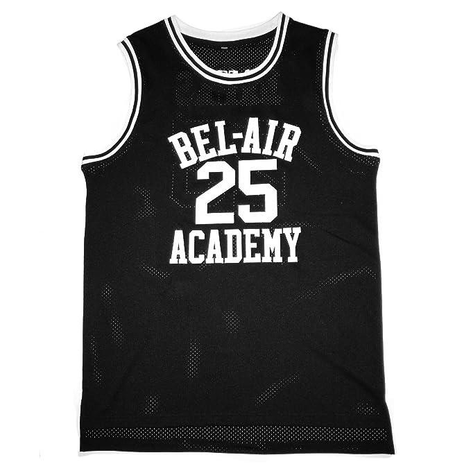 MOLPE Carlton Banks  25 Bel Air Academy Basketball Jersey S-XXXL Black (S c92560fba