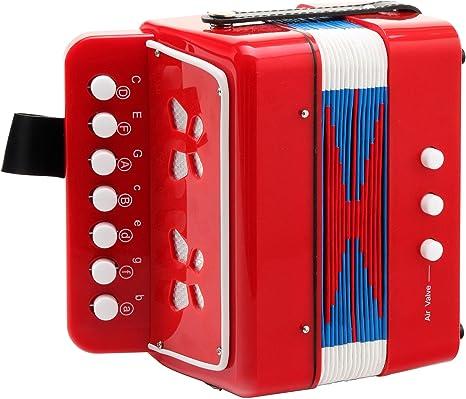 17-Tönen Luftventil Tasche 2 Schultergurte Top Kinder-Akkordeon mit 8-Bässen