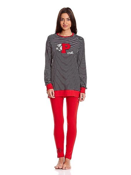 GISELA Pijama Camiseta y Leggins Negro L