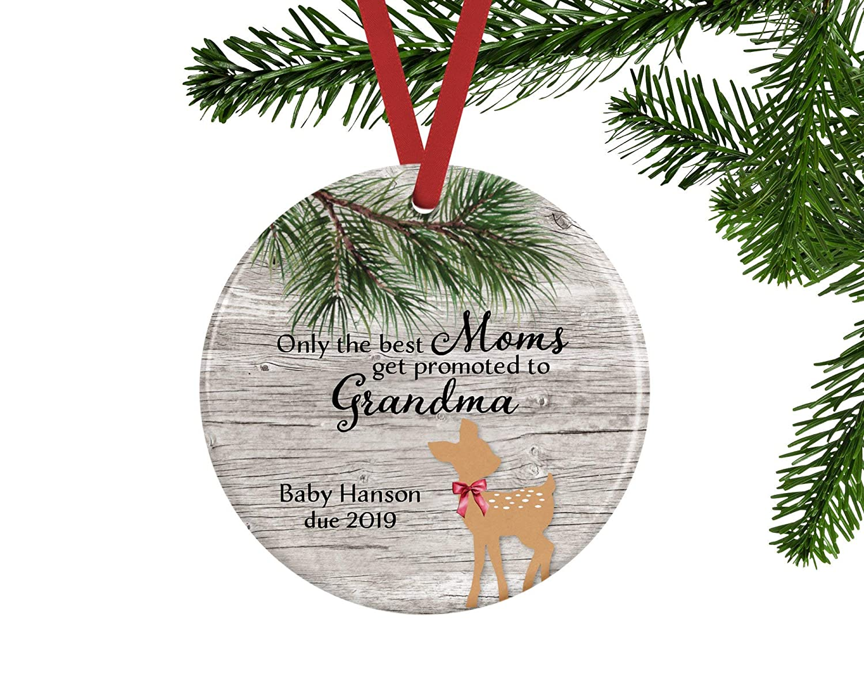 Amazon.com: Venus50Lizz Personalized Christmas Ornament Pregnancy ...