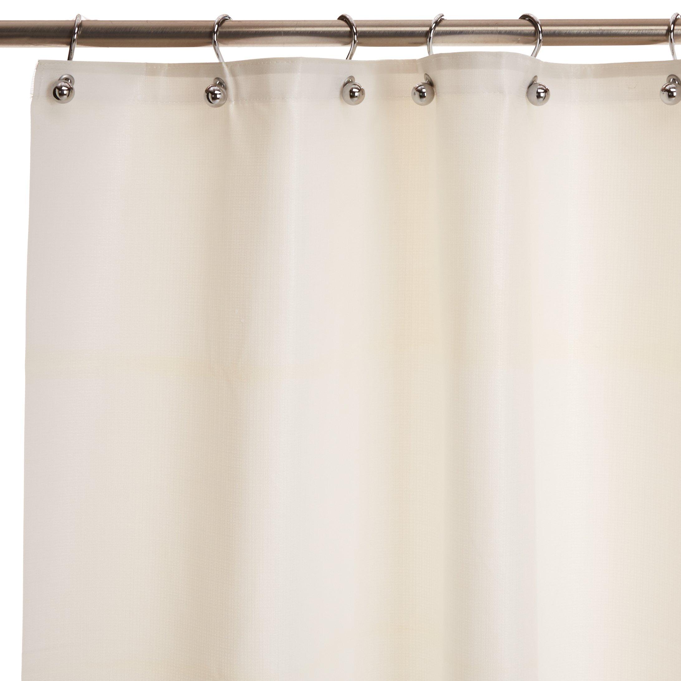 Bradley 9537-727200 Vinyl Antimicrobial Shower Curtain, 72'' Width x 72'' Length, White