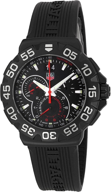 Amazon Com Tag Heuer Cah1012ft6026 De Los Hombres Formula 1 Grande Fecha Reloj Cronografo Watches