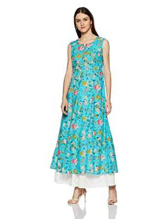 42970e036 BIBA Women s Anarkali Kurta  Amazon.in  Clothing   Accessories