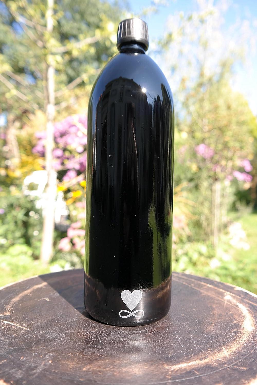 1 l Botella, Miron Cristal/violettglas metatrons Dados: Amazon.es: Hogar