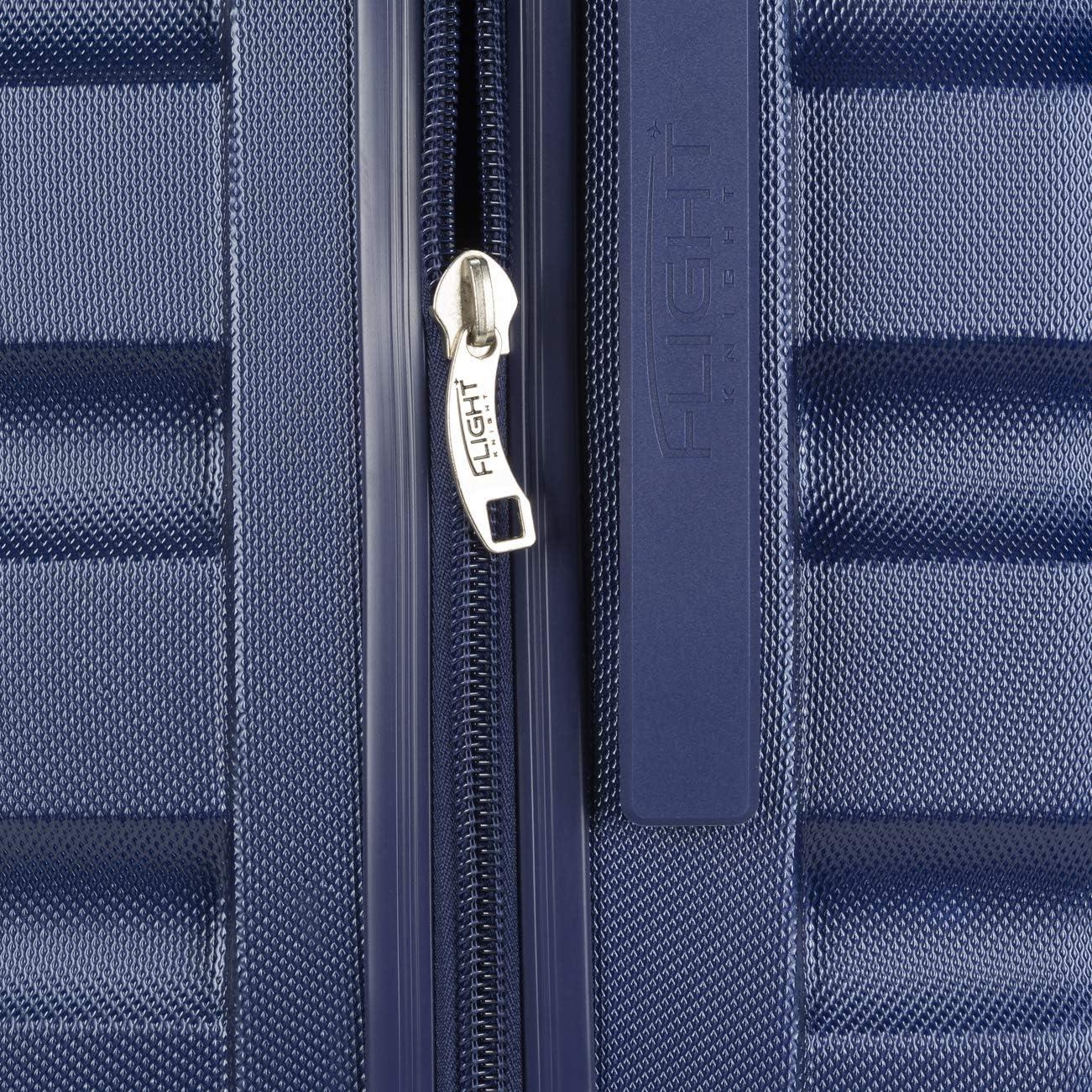 Flight Knight ABS 3 Tailles Valise Legere Taille Maximum Permise avec easyJet British Airways,Iberia Bagage a Main 56x45x25 cm Et Bagage en Soute Grande avec 8 Roues. Jet2 Et Bien dautres
