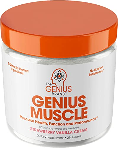 Genius Muscle Builder Best Natural Anabolic Growth Optimizer for Men Women True Weight Gainer Supplement for Steel Physique Immune System Support w Vitamin D Natural Organic Mushrooms