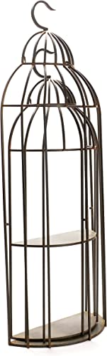 Caffco International Birdcage Wall Shelf, Set of 2