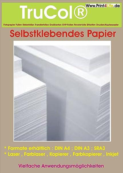 50 Blatt A4 Selbstklebendes Weißes Papier Für Jeden