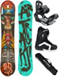 AIRTRACKS SNOWBOARD SET / RED LIPS SNOWBOARD WIDE FLAT ROCKER + BINDING SAVAGE + BOOTS + SB BAG / 152 156 159 / cm