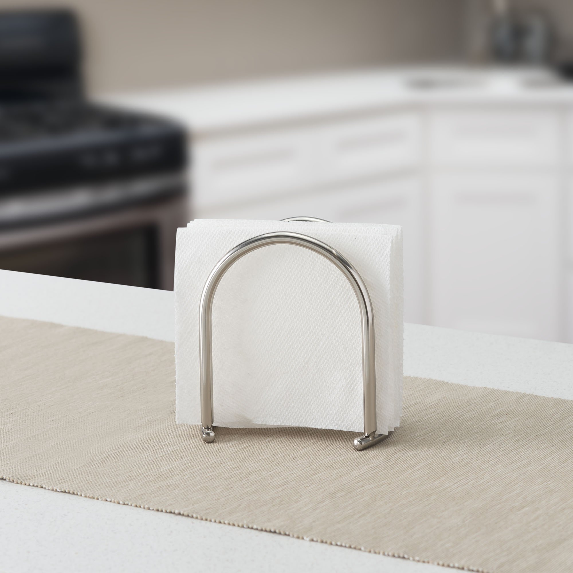 Home Basics Napkin Holder Satin Nickel Simplicity Collection