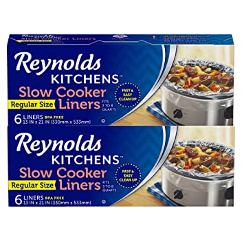 Reynolds Kitchens Slow Cooker Liners, Regular, 12 Count