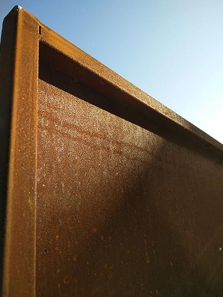 Edelrost Jardin Vue Protection Rouille vue cloison Jardin Accessoires Métal h150*50cm