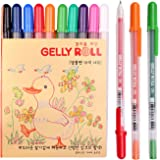 Sakura Pgb10c56 10-piece Gelly Roll Blister Card Gel Ink Pen Set, Fine Point 0.6mm, Assorted Colors