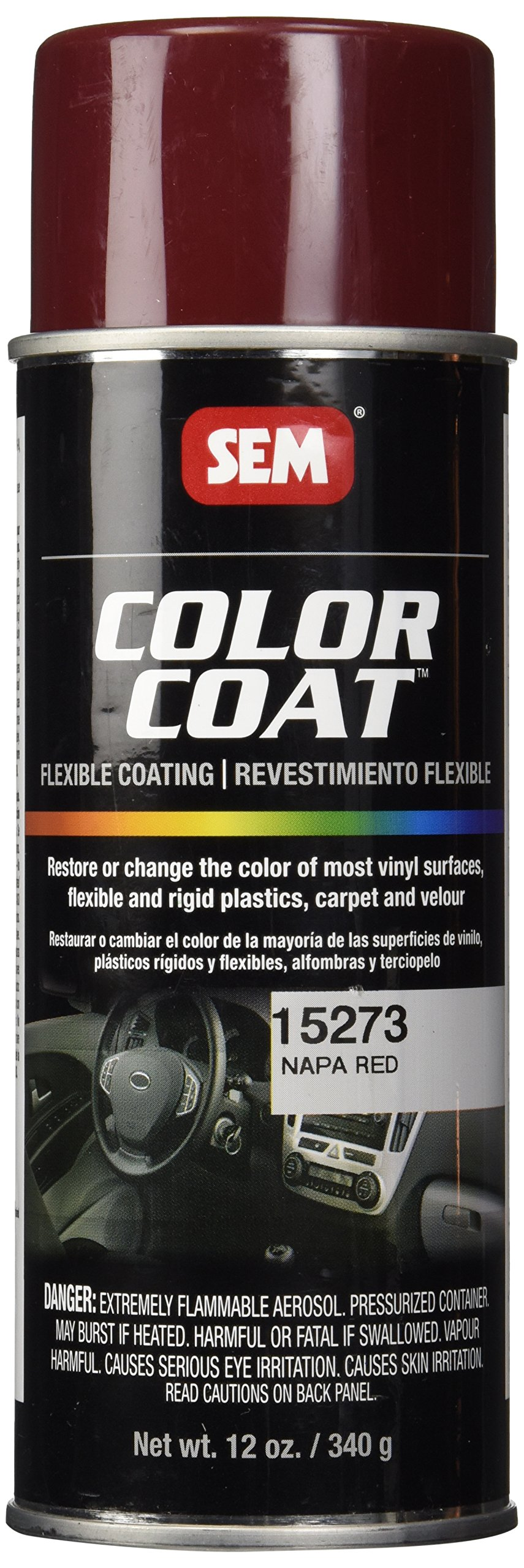 SEM Products 15273 Napa Red Color Coat - 12 oz.