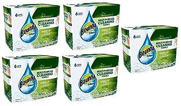 Bounty con Dawn grandes rollos multiusos de limpieza toallas de papel, 49 hojas, 6
