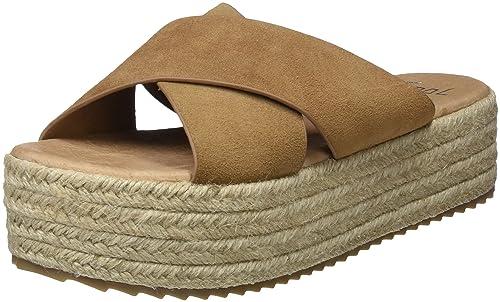 Mini, Sandalias con Plataforma para Mujer, Marrón (Cue), 39 EU Coolway