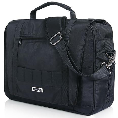 ca8fb0f0b9c3 Lifewit 15.6 inch Military Laptop Briefcase Bag Messenger Bag Multifunction  Tactical Briefcase Computer Shoulder Handbags, Black