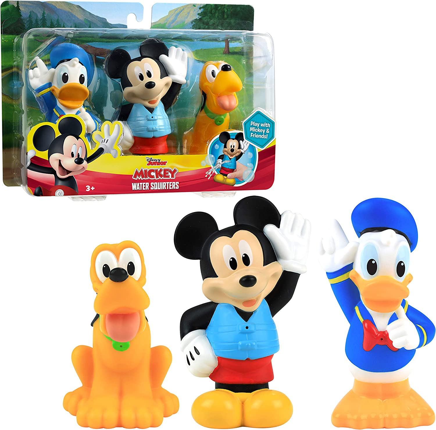 Mickey Mouse Bath Squirters 3-Pack - Amazon Exclusive, Multi-color