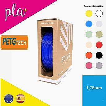 EOLAS Filamento impresión 3D 100% PETG, Made in Spain, Food safe ...