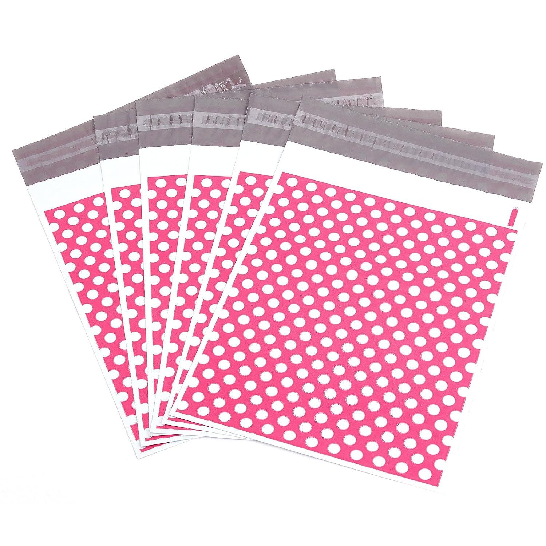 50 St/ück pinkfarben mit Punkten 255/mm x 355/mm stark selbstklebend Kunststoff-Versandbeutel
