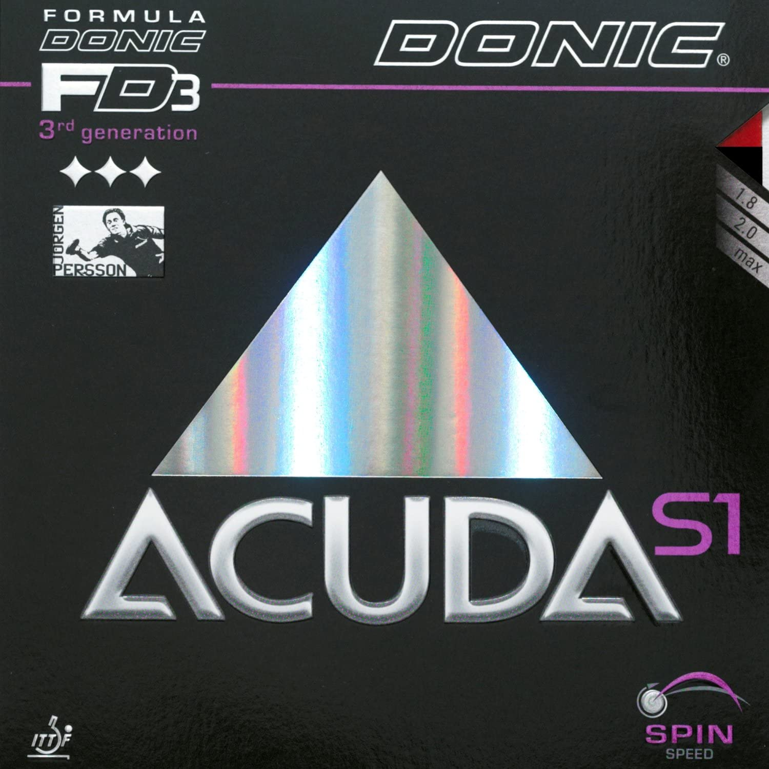 DONIC Belag Acuda S1 Rot 2,0mm