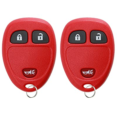 KeylessOption Keyless Entry Remote Control Car Key Fob Replacement for 15913420 Red (Pack of 2): Automotive