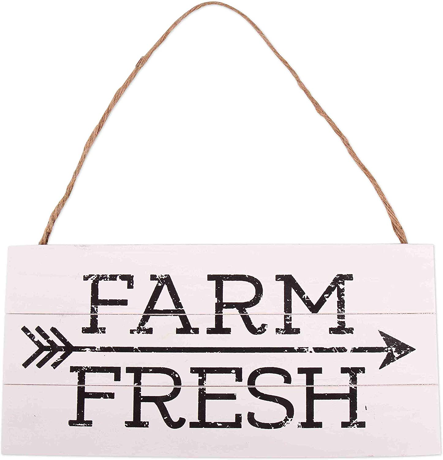 GSM Brands Farm Fresh Wood Plank Hanging Sign (13.75 x 6.9)