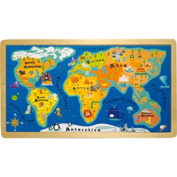 Legler small foot by puzzle world map 4240 frame 24 amazon legler small foot by puzzle world map 4240 frame 24 gumiabroncs Choice Image