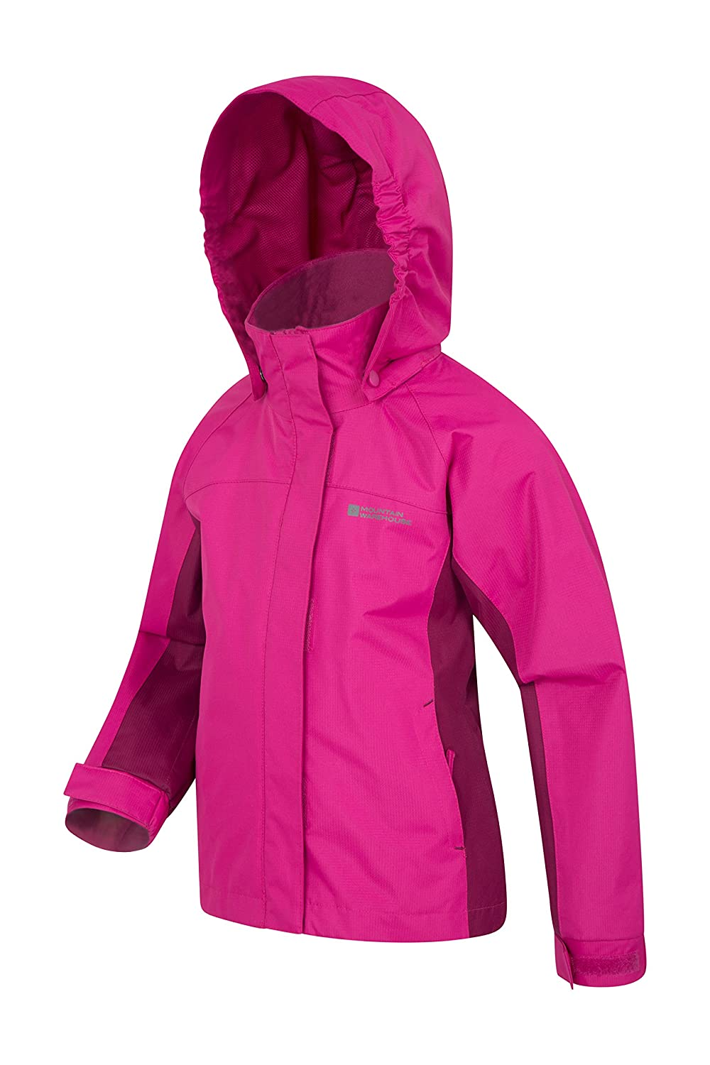 Mountain Warehouse Shelly 2 Kids Jacket with Adjustable Cuffs /& Pockets