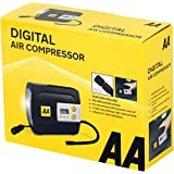 AA 12V Digital Tyre Inflator with Adapters, Packaging May Vary