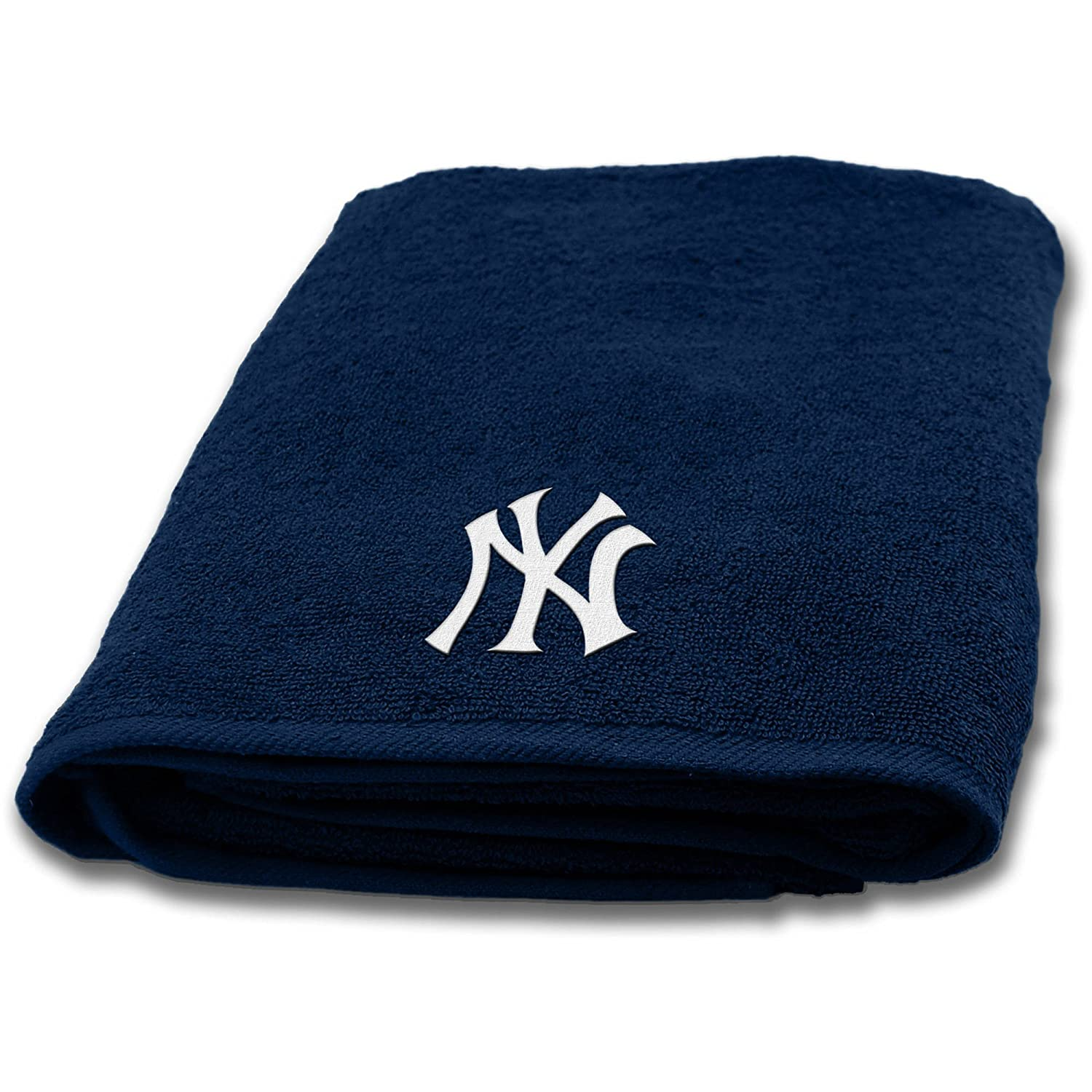 MLB New York Yankees 18 Piece Bath Ensemble Includes 1 Shower Curtain