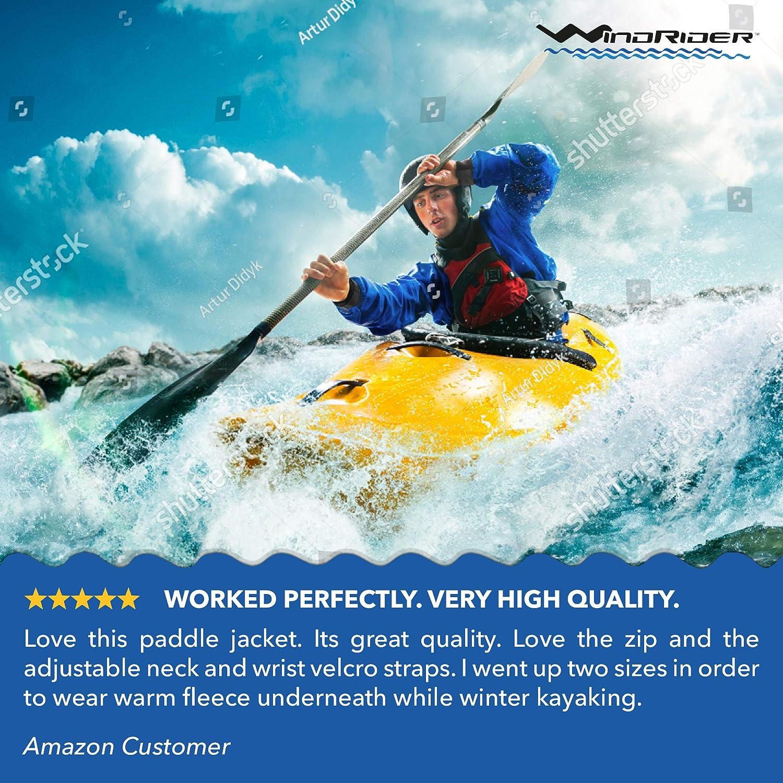 WindRider Waterproof Paddling Sailing Spray Top   Neck and Wrist Seals   Front Zipper   Shoulder Pocket: Clothing