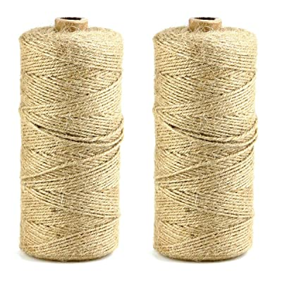 YG_Oline 437.4yd 0.1inch Natural Jute Twine, Arts and Crafts Twine String, Jute Thin Rope for DIY Activities, Gift Wrapping, Wedding Decoration, Picture Display: Arts, Crafts & Sewing