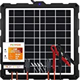POWOXI-Upgraded-20W-Solar-Battery-Charger-Maintainer, External Smart 3-Stages PWM Charge Controller, 12V Solar Panel…