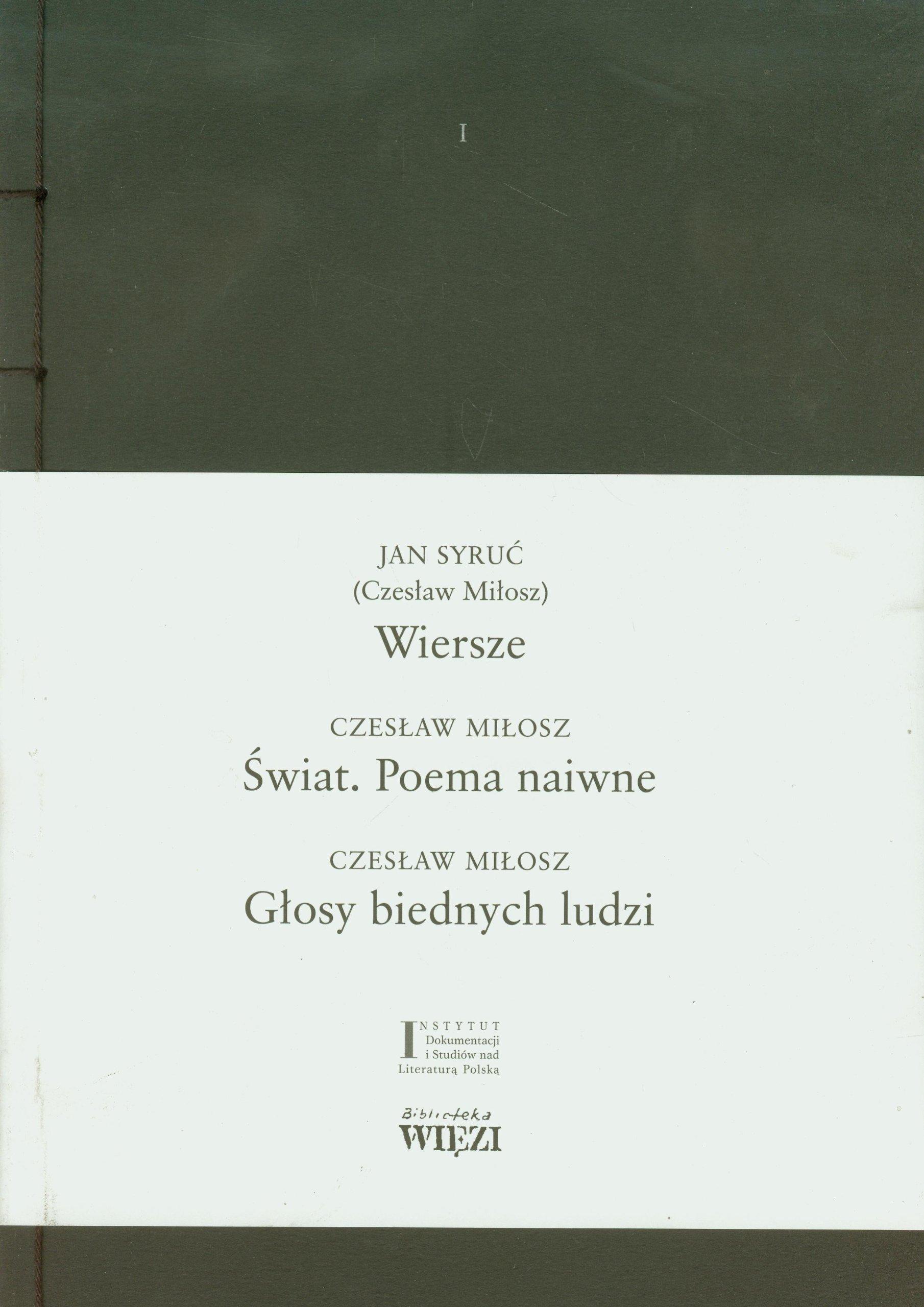 Wiersze Swiat Poema Naiwne Glosy Biednych Ludzi Amazones