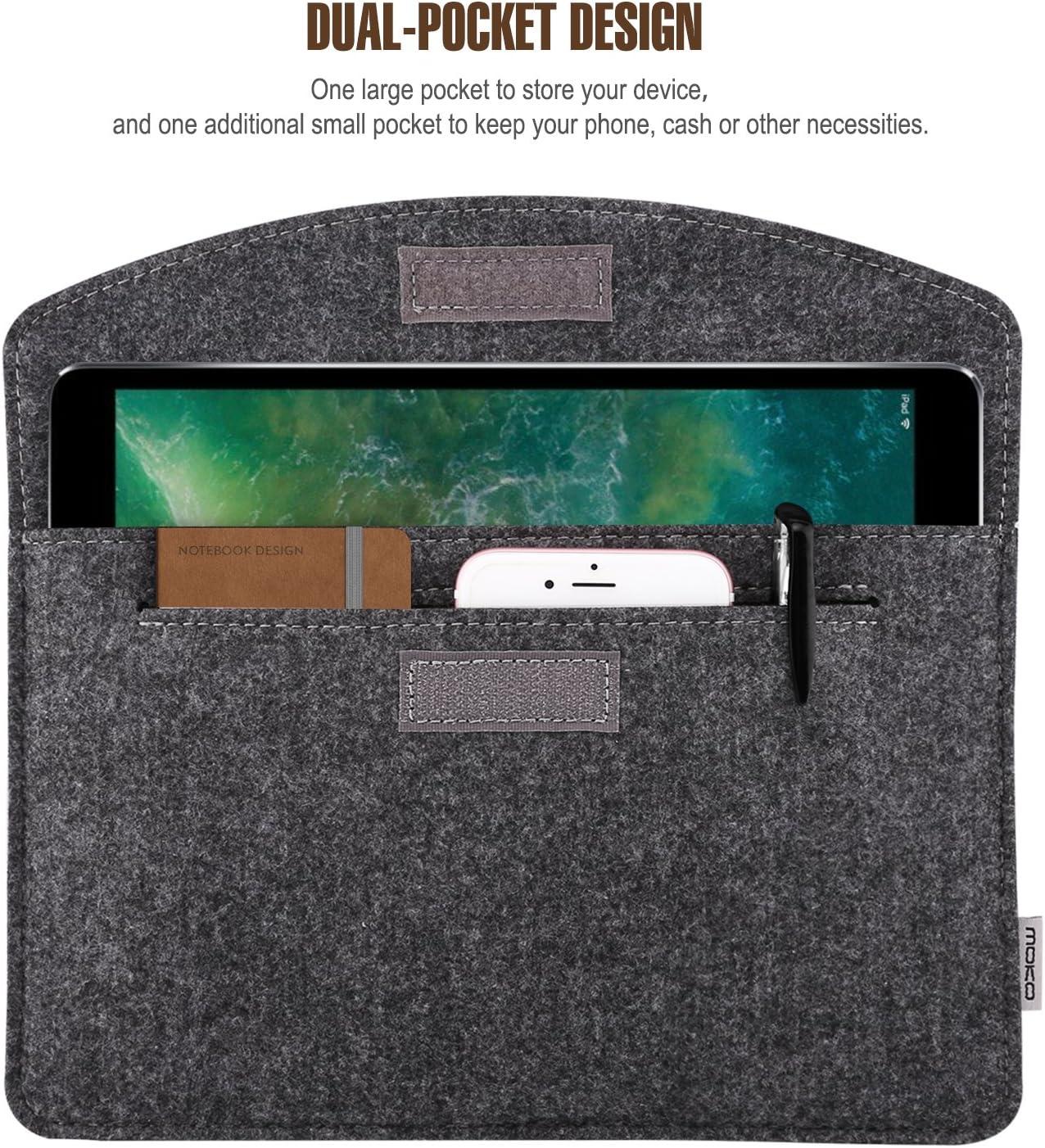 iPad Air /& Air 2 OrgaWise iPad Felt Sleeve Cover Case for iPad Pro 12.9 4 /& Samsung Galaxy Tab S 10.5 in Dark Grey Soft Felt Fabric 3 iPad 2