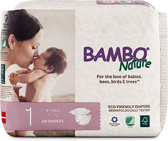 Bambo Nature Baby Diapers - Size 1 (4-11 lbs)