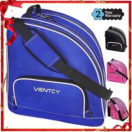 VENTCY Sac Roller Sac pour Patins à Glace Skate Bag Sac de Patinage à roulettes pour Taille 28–45 (EU) Sac a Chaussures Ski